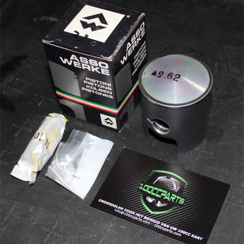 ASSO WERKE 100CC PISTON, PIN, CLIPS AND RING SET